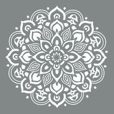 DecoArt Americana Decor 10 in. Mandala - The Home Depot - design - DecoArt Americana Decor 10 in. Mandala – The Home Depot - Stencils Mandala, Stencil Art, Stencil Designs, Stenciling, Floor Stencil, Stencils For Painting, Lace Stencil, Stenciled Floor, Mandala Design