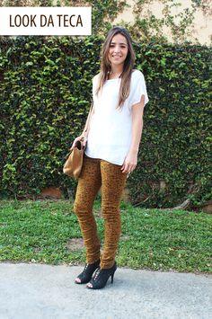 Look da Teca para começar bem a semana.     Agora, no blog! Your Favorite, Look, Pants, Fashion, Teak, Moda, Trousers, Women Pants, Women's Pants
