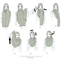 Whoever wears the Lana Premium shawl scarf must have their own way of dressing . - Anyone wearing a Lana Premium shawl scarf should have their own way of styling it. Share with us how you can improve it! Square Hijab Tutorial, Simple Hijab Tutorial, Pashmina Hijab Tutorial, Hijab Style Tutorial, Modern Hijab Fashion, Hijab Fashion Inspiration, Mode Inspiration, Boho Fashion, Womens Fashion