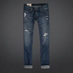 Hollister Skinny Jeans - Destroyed Medium Wash