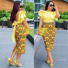 ankara stil Owning Ankara material is very easy but deciding on topnotch style to sew can be difficult atimes. For some individuals like myself, we have to browse till we can find classy Ankara styles. African Fashion Ankara, Latest African Fashion Dresses, African Dresses For Women, African Print Dresses, African Print Fashion, African Attire, African Wear, Modern African Dresses, Kente Dress