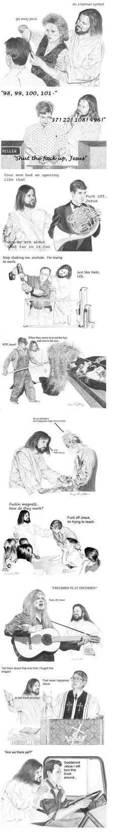 Jesus tries