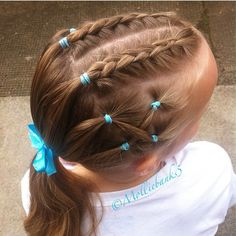 """""""Love this cute style done by @molliebanks5! This style would work well on short…"""