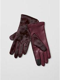 Calf hair tech gloves | Gap
