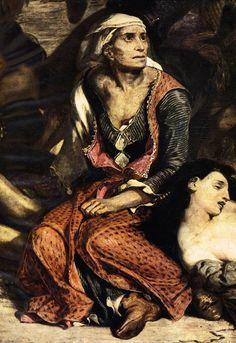 """#Eugene #Delacroix """"#The Massacre at Chios"""" Detail  (1824) Musee du Louvre, Paris"""