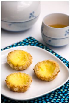 my favorite Chinese dessert... dan tat  There was a place in Phoenix that we used to get dim sum at and I would devour these!!!! Have looked for the recipe several times. So excited to try this one!