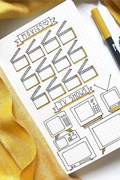 Need to keep track of all those Netflix episodes and shows you've been watching? Check out these tv show tracker ideas to keep it all organized! best bullet journal tracker ideas for TV shows and netflix! Bullet Journal Tracker, Bullet Journal Paper, Creating A Bullet Journal, Bullet Journal Lettering Ideas, Bullet Journal Notebook, Bullet Journal Aesthetic, Bullet Journal School, Bullet Journal Themes, Bullet Journal Inspo