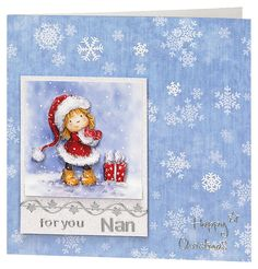 Craft Creations die cut decoupage - DCD635 - Girl with Gifts