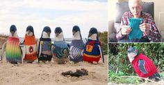 Un+hombre+de+109+años+teje+suéteres+para+rehabilitar+pingüinos