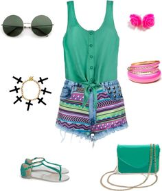 """""""summer hipster outfit, fab or drab?"""" by vitoriamouzer ❤ liked on Polyvore IN LOVEEEEEE"""