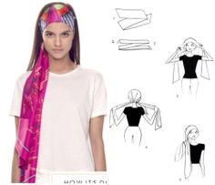 How To Tie A Scarf - Hermès Scarf Knotting Cards - Bandeau