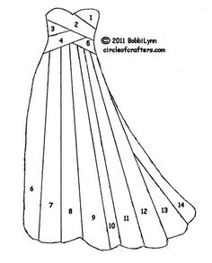 iris folding gown template - bjl