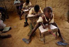 african boy in school
