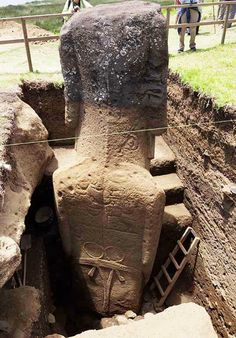 Easter Island, Moai, Rongorongo - Crystalinks  Not only bodies but G strings!  ...wtf? lol