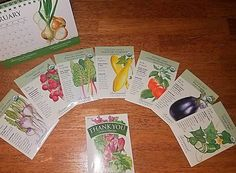 """""""MY SEEDS came in the mail today🤗🤗 Black beauty eggplant, summer squash, cherry tomatoes, cucumbers, white globe purple top turnips, orange sweet peppers, rainbow swiss chard, then they sent a bonus pack saying thank you, of lettuce mesclun seeds!! 😍 You see that 12 month desktop calendar in the back? They sent that as well and I didn't even order it. I hope the seeds turn out as wonderful as this company seems so far👏👏 @botanical_interests  #BotanicalInterests #GrowFoodRus #HomeGrown""""…"""