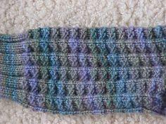 Laura's Fluted Banister Socks - Women's medium, sport weight