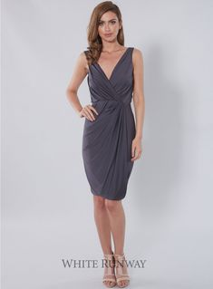 Belle Dress. Stunning V-neck cocktail dress by Pia Gladys Perey featuring a plunging back.