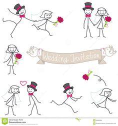 stick figure wedding - Google Search