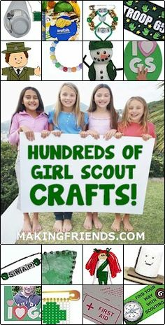 Wow! Girl Scout Crafts Galore! -- http://www.makingfriends.com/scouts/scouts_girls.htm