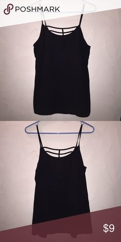 NWOT Maurices Black Strappy Top NWOT Maurices Black Strappy Top. Size medium. In excellent condition. 100% polyester. Super cute on!! Maurices Tops Blouses