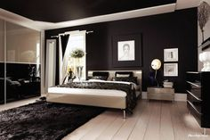 http://keepmihome.com/wp-content/uploads/2015/04/interesting-black-ceiling-in-the-interior-elegant-bedroom-as-well-lamp-desk-the-bedside-including-fur-rug-on-wooden-floor-along-with-white-black-curtain-window-corner-and-black-brown-gloss-closet-801x534.jpg