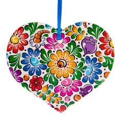Kolorowa FOLK ozdoba - serce - opolska Folk, Outdoor Blanket, Home Appliances, Polish, Ornaments, Heart, House Appliances, Popular, Varnishes