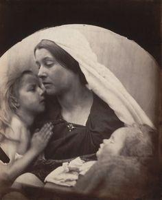 Julia Margaret Cameron (British, 1815-1879), Madonna with Children, 1864, Albumen silver print, 10 1/2 x 8 5/8″ (26.7 x 21.9 cm)