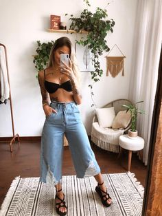 Boho Look, Look Chic, Look Fashion, Fashion Outfits, Womens Fashion, Pretty Outfits, Cute Outfits, Textiles Y Moda, Summer Outfits