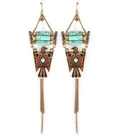 Spoilt Girl  - Turquoise Eagle earrings, $22.10 (http://spoiltgirl.com.au/turquoise-eagle-earrings/)