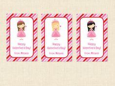 Princess Valentines Cards Girl Printable Classroom Exchange