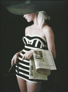 Jean Patchett photographed by Milton Greene, 1953