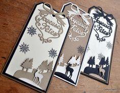 Bonjour, Je commence par 3 petits tags pour décorer mes cadeaux de Noël ! Tout simple, juste un flocon et de belles découpes, Dies FD : Paysages d'Hiver et Voeux d'hiver. J'ai glissé sous les motifs un petit carré de mousse 3D qui apporte du relief à...