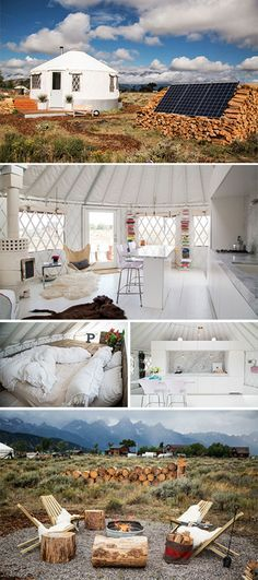 This stunning yurt proves that off-the-grid living can still look good #yurt #tinyhome #tinycottage