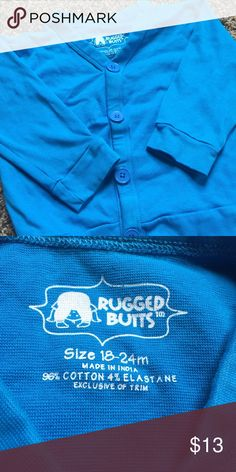 Toddler's Rugged Butts Cardigan Toddler's Rugged Butts cardigan. Worn just a couple times. Great condition! Super cute for the upcoming fall and winter months! Size 18-24 mo. Rugged Butts Shirts & Tops Sweaters