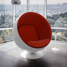 One of the most well-known of all the mid-century modern classics, the Eero Aarnio Style Ball Chair can be customized in your choice of fabric and color.