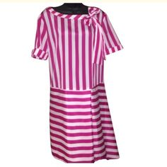 Love Moschino striped dress NWT sz 12 Pink and white pleated tie dress Moschino Dresses Asymmetrical