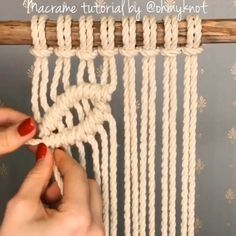 Most up-to-date Totally Free Macrame Patterns tutorials Suggestions Find out all you should recognize to create beautiful macrame projects. Macrame Curtain, Macrame Cord, Macrame Knots, How To Macrame, Free Macrame Patterns, Macrame Wall Hanging Patterns, Fun Look, Diy Crafts To Do, Micro Macramé