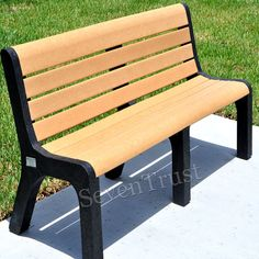 Wood Slats For Benches Recycled Plastic Wood Park Benches