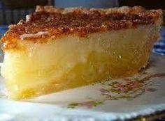The Hidden Pantry: Buttermilk Pie ! My mother made THE best Buttermilk pie ever. Köstliche Desserts, Dessert Recipes, Recipes Dinner, Southern Buttermilk Pie, Buttermilk Chess Pie, Lemon Chess Pie, Buttermilk Syrup, Buttermilk Recipes, Buttermilk Biscuits