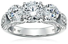 Sterling Silver White Cubic Zirconia 3Stone Ring Size 7 ** You can get additional details at the image link.Note:It is affiliate link to Amazon. #fashionkid