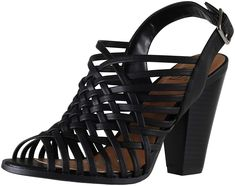 483514a6346f87 Delicious Soda Women s Hills Slingback Caged Latticed High Heel Sandal --  Very nice of your