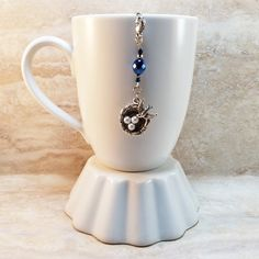 Bird's Nest Tea Infuser Charm-Antique Silver by CamilleLaLune