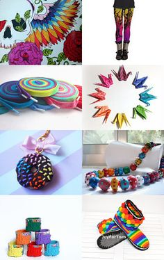 A Rainbow in the Sky by Gloria on Etsy--Pinned+with+TreasuryPin.com