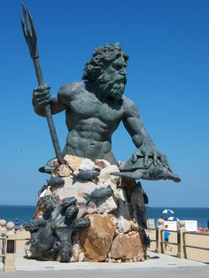 The greek god poseidon. This statue is incredible.