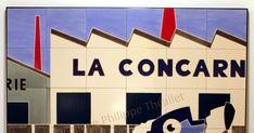 Deux nouvelles fresques sur céramique d'Olivier Lapicque viennent de faire leur entrée à la galerie.   Ces deux panneaux, pièces uniques su... Company Logo, Logos, Olive Tree, Fresco, Sign, Photographs, Places, Logo