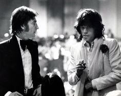 John Lennon & Mick Jagger  American Film Institute Salute to James Cagney at Century Plaza Hotel 1974  Photo by Ron Galella