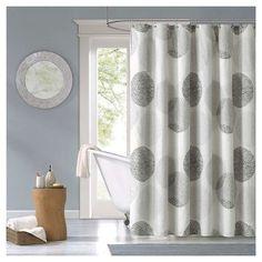 Cabrillo Geometric Print Microfiber Shower Curtain - Gray guest bathroom? for shaun?