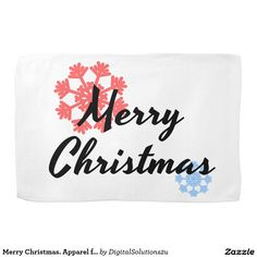 Merry Christmas. Apparel for men and women. T-shir Hand Towels