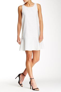 Grid A-Line Dress