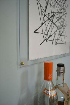 designPOST interiors: knock off ethan allen art (scribbling) in an acrylic frame